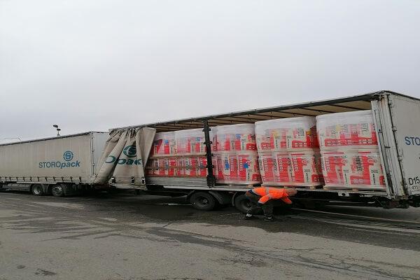 Wełna Mineralna WRolce Rotaflex Dostawy Samochodem Ciężarowym 24 Palety